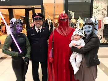 """May the force be with you""... Star Wars characters were out in force in support of the Red Kettle Campaign on Saturday."