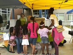Kids gather for fun activities at the 2013 celebration.