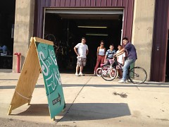The Spoke Folks co-op workshop is located at 215 Logan St. SW
