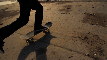 """Still of a skateboarder from """"Space for Rent"""""""