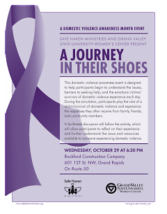 A Journey in Their Shoes is free and open to the public and will take place at 6:30p.m. on Wednesday, October 29.