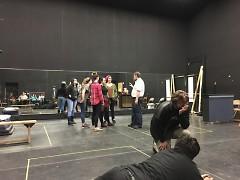 Randy directing a scene