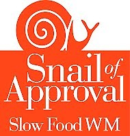 "This ""Snail of Approval"" recognition is awarded to various businesses which adhere to the Slow Food philosophy"
