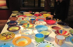 A variety of bowls to choose from.