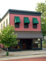 The Sparrows Coffee, Tea & Newsstand located at 1035 Wealthy. It was one of the buildings saved by SEED's efforts.