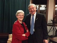 Sister Barbara Hansen with former Mayor George Heartwell at her retirement