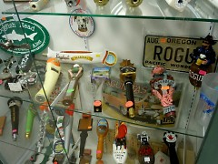Fifty different dealers fill Eastown Antiques with an ever-changing stock of rarities, like this collection of tap handles.