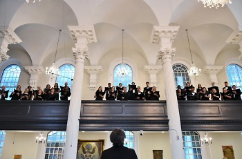 The Choir of Trinity Wall Street from New York City performs March 21 in St. Mark's Episcopal Church.