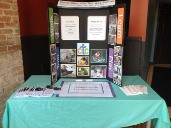 Informational booth for CTC at The MItten