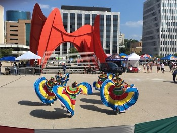 Dancers at a previous Fiesta Mexicana at Calder Plaza.