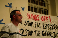 Tom Burke, appearing at the Committee to Stop FBI Repression meeting in New York City Nov. 6, 2010.