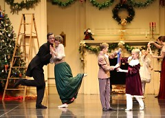 This family prepares for Christmas day with a lovely dance.