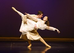 CARE Ballet dancers performing as Ma and Pa.