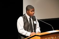 Tyrell Jamison shares his story in a rap.