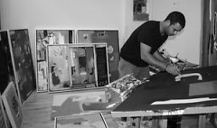 Castillon in his studio