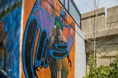 Alan Compo's mural on the Westside