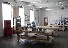 Kraus' studio space.