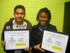 Cesar Vargas (Steil Club) and Jasmine Stark (Seidman Club)