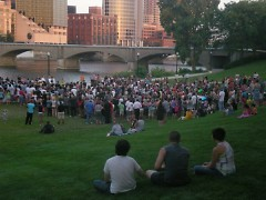 Ah-Nab-Awen Park welcomed a large community who came to honor the lives of the innocent victims