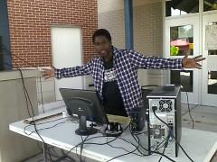 DJ Vito spinning the tunes