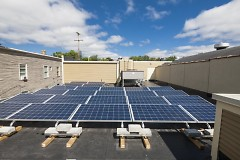 Wealthy Theatre solar array, installed August 2013, thanks to Rockford Construction and Feyen-Zylstra.