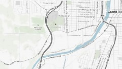 Map showing part of Grand Rapids' Westside