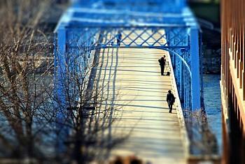 The Blue Bridge in Grand Rapids, MI.