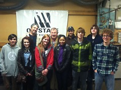 The Youth Recording Arts Academy class was able to tour On Stage Services