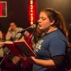 Amanda Zerilli features at The Drunken Retort open mic.