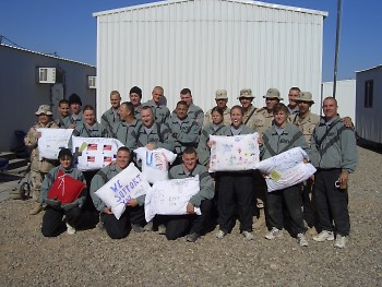 Pillows for military personnel from the GR Support group