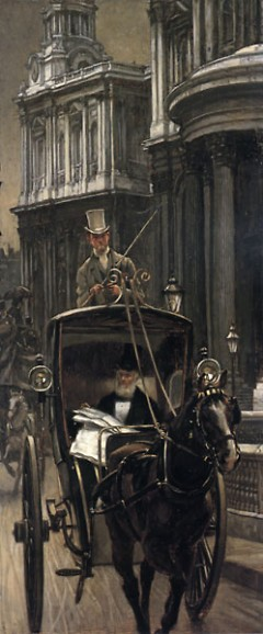 James Tissot, Going to Business, c.1879, New Orleans Museum of Art, Gift of Merryl Aron in honor of John Bullard