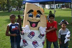 Taco Bell's Mr. Taco has fun with our youth at Boys & Girls Clubs' Day 4 Kids!