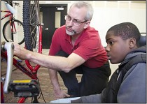 Boston Square Community Bikes teaches youth and adults about bicycles and bike repair.